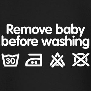 Remove baby before washing 2 baby shirts met lange mouwen - T-shirt