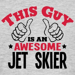 this guy is an awesome jet skier 2col - Men's T-Shirt