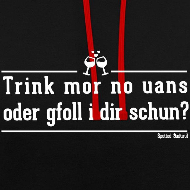 Trink mor no uans | Hoodie Unisex