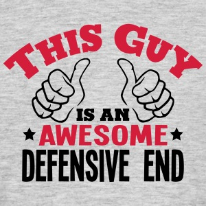 this guy is an awesome defensive end 2co - Men's T-Shirt
