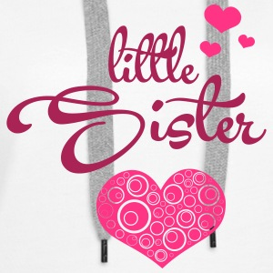 Little Sister with Hearts Pullover & Hoodies - Frauen Premium Hoodie
