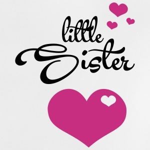 Little Sister with Hearts Baby T-Shirts - Baby T-Shirt