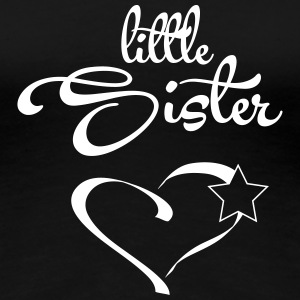 Little Sister with Heart T-shirts - Dame premium T-shirt