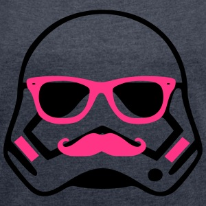 hipster troopers Tee shirts - T-shirt Femme à manches retroussées