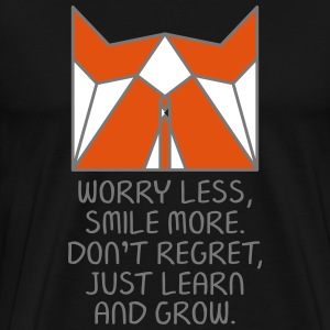 Worry Less. Smile More...(Origami Fox) T-Shirts - Men's Premium T-Shirt