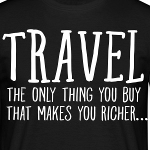Travel  Makes You Richer.... T-skjorter - T-skjorte for menn
