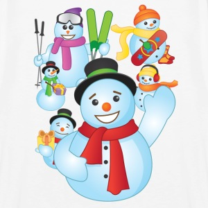 Snowman Scene Christmas - Men's Premium Tank Top