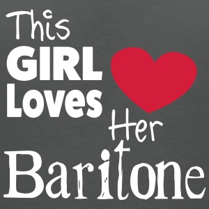 This Girl Loves Her Baritone T-shirts - Vrouwen T-shirt met V-hals