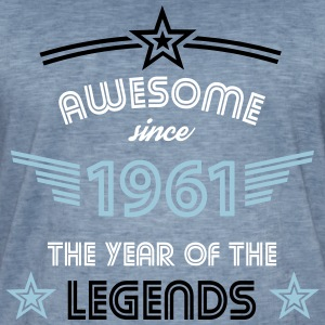 Awesome since 1961 T-Shirts - Männer Vintage T-Shirt