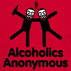 Alcoholics Anonymous 3 T-shirts - Herre kontrast-T-shirt
