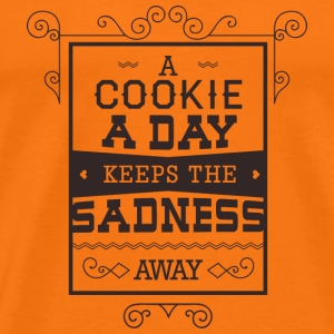 Cookie a day keeps sadness away- Essen Kekse Witz T-Shirts - Männer Premium T-Shirt