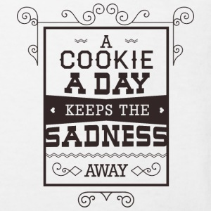 Cookie a day keeps sadness away- Essen Kekse Witz T-Shirts - Kinder Bio-T-Shirt
