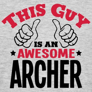 this guy is an awesome archer 2col - Men's T-Shirt