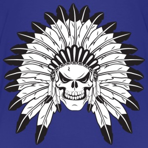 Indian Skull Chief Shirts - Teenage Premium T-Shirt
