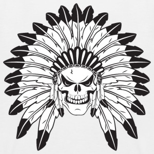 Indian Skull Chief Shirts - Kids' Baseball T-Shirt