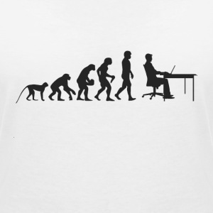 Evolution work T-Shirts - Women's V-Neck T-Shirt