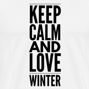 Keep Calm and Love Winter Koszulki - Koszulka męska Premium