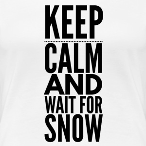 Keep Calm Snow T-Shirts - Frauen Premium T-Shirt