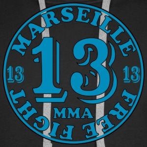 Sweat-shirt MMA Marseille 13 - Sweat-shirt à capuche Premium pour hommes