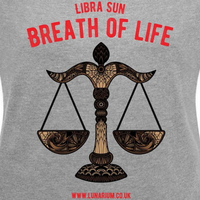 Libra Sun Women's T-shirt with rolled up sleeves