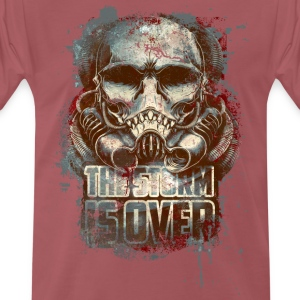 Washed burgundy the storm is over T-Shirts - Men's Premium T-Shirt