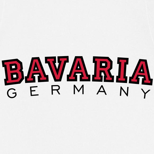 Bavaria Germany (Schwarz/Rot) Bayern Kochschürze