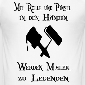 Målare legend T-shirts - Slim Fit T-shirt herr