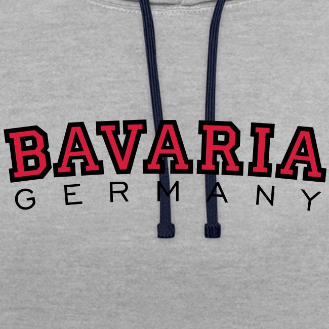 Bavaria Germany (Schwarz/Rot) Bayern Kontrast Hoodie
