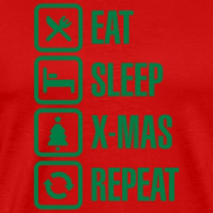 Eat - sleep - X-mas/Christmas - repeat 2 T-shirts - Mannen Premium T-shirt