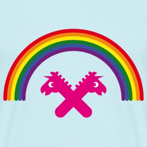 Unicorns Under The Rainbow (Licorne / Arc-En-Ciel) Tee shirts - T-shirt Homme