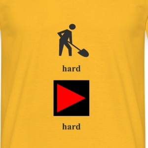 Work_hard_play_hard - Männer T-Shirt