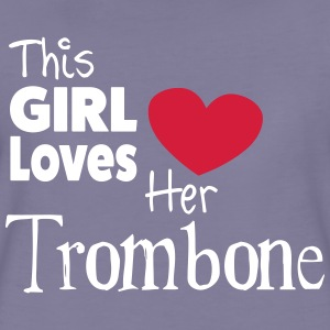 This Girl Loves Her Trombone Camisetas - Camiseta premium mujer