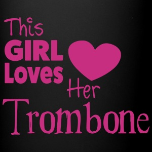 This Girl Loves Her Tombone,  Mug - Ensfarget kopp