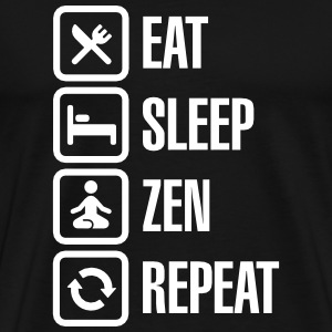 Eat -  sleep - zen - repeat T-shirts - Herre premium T-shirt