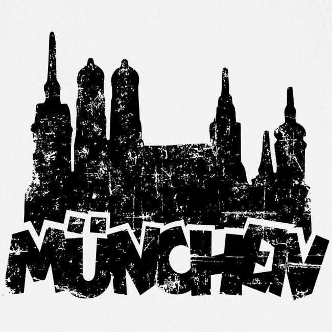 München Skyline Vintage Schürze