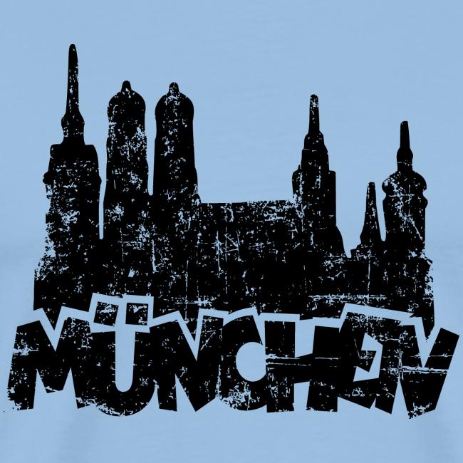 München Skyline Vintage S-5XL T-Shirt