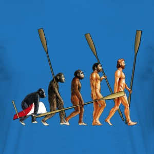 Evolution of The Rower - Men's T-Shirt