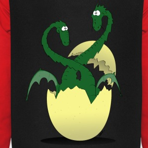 dragons jumeaux vert Sweat-shirts - Sweat-shirt baseball unisexe