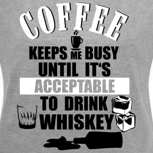 Coffee and whiskey T-Shirts - Women's T-shirt with rolled up sleeves