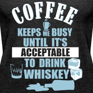 Coffee and whiskey Tops - Women's Premium Tank Top