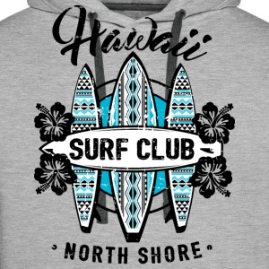 AD Surf Hawaii Sweat-shirts - Sweat-shirt à capuche Premium pour hommes