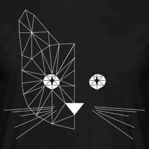 Polygonal Cat Face White T-Shirts - Männer T-Shirt