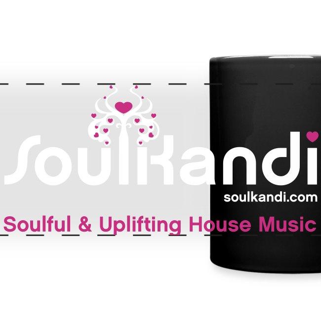 Soul Kandi Panoramic Print Mug White & Pink