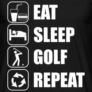 Eat,sleep,play,golf repeat Golf t-shirt  - Männer T-Shirt