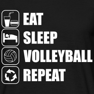 Eat sleep,play,volleyball repeat Volley T-shirt  - Mannen T-shirt