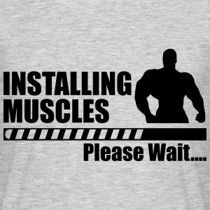 Installing muscles - Gym Crossfit Bodybuilding  - Men's T-Shirt