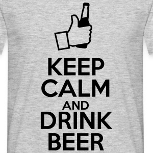 Keep calm and drink beer  - Men's T-Shirt