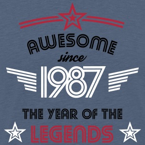 Awesome since 1987 T-Shirts - Männer Premium T-Shirt