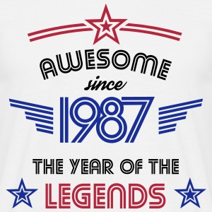 Awesome since 1987 T-Shirts - Männer T-Shirt