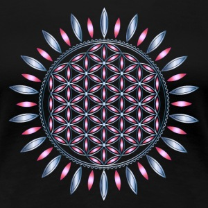 FLOWER OF LIFE, SACRED GEOMETRY, SPIRITUALITY - Women's Premium T-Shirt